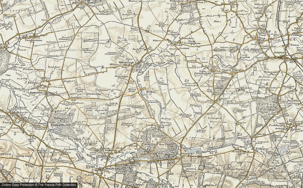 Old Map of Historic Map covering Langford in 1901-1902
