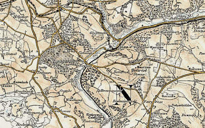 Old map of Bofarnel in 1900