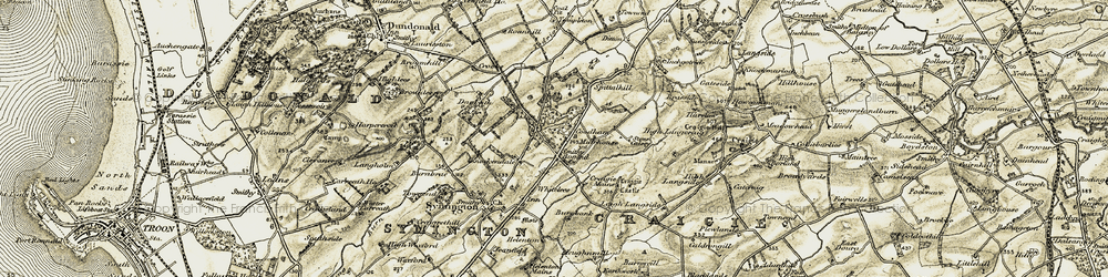 Old map of Whitehill in 1905-1906