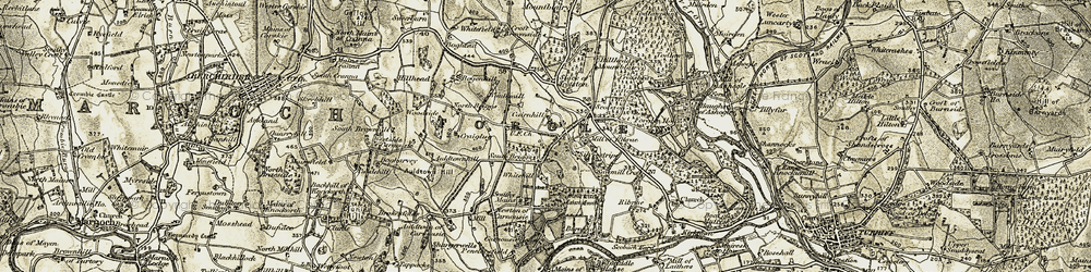 Old map of White Hill in 1910