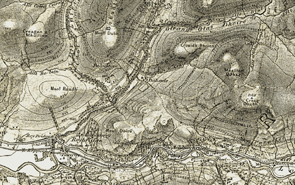 Old map of Allt Bohenie in 1906-1908