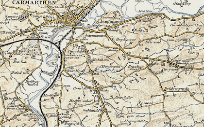 Old map of Bolahaul Fm in 1901
