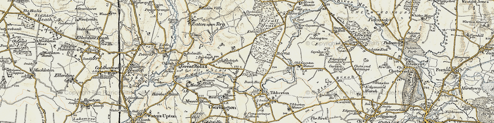 Old map of Allford Brook in 1902