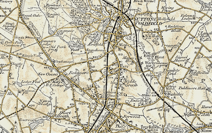 Old map of Wyndley Pool in 1901-1902