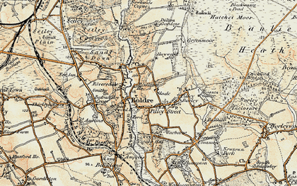 Old map of Boldre in 1897-1909
