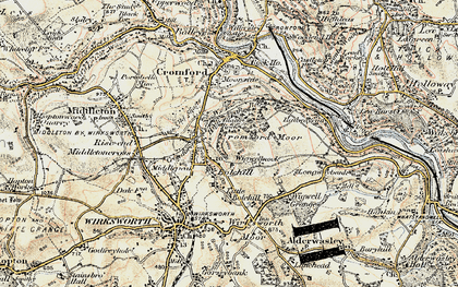 Old map of Wigwellnook in 1902-1903