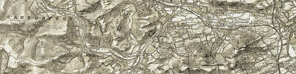 Old map of Boleside in 1904