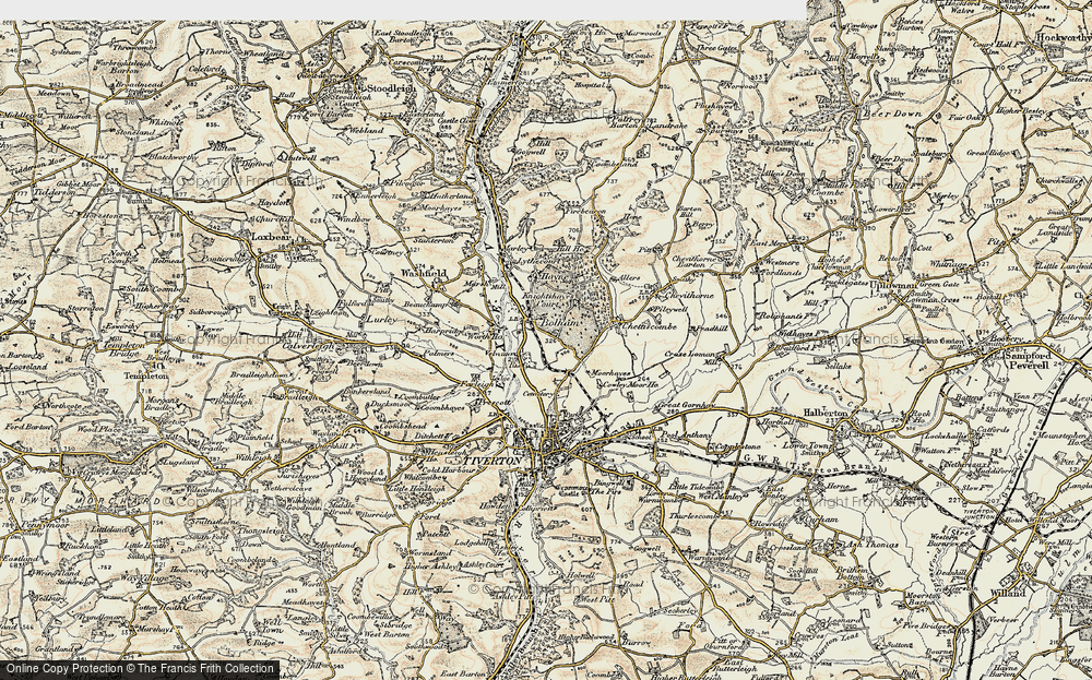 Old Map of Historic Map covering Worth Ho in 1898-1900