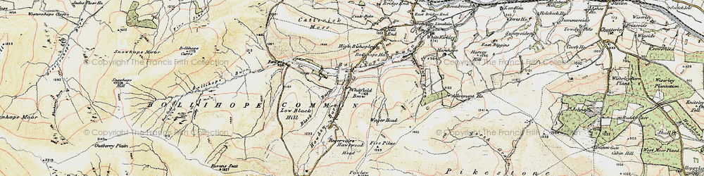 Old map of Whitfield Brow in 1901-1904