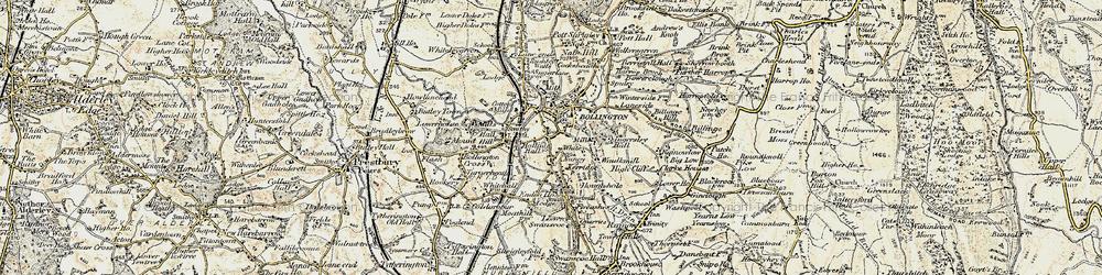 Old map of White Nancy in 1902-1903