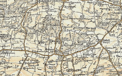 Old map of Wykehurst Park in 1898