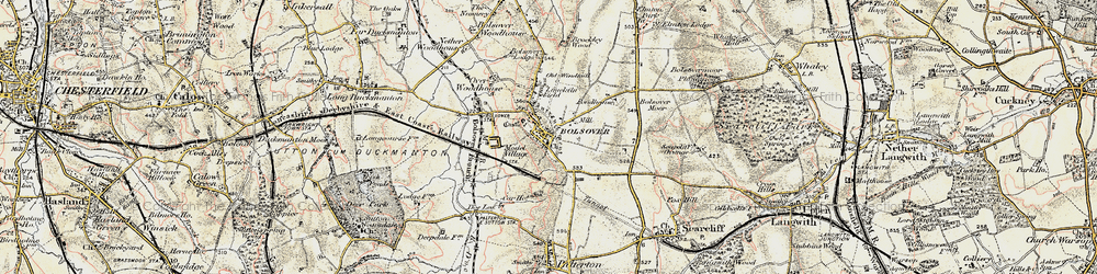 Old map of Bolsover in 1902-1903