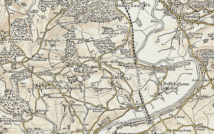Old map of Witherstone in 1899-1900