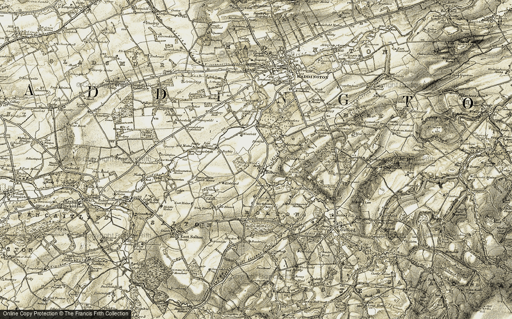 Old Map of Historic Map covering Woodend in 1903