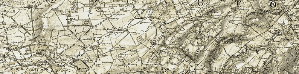 Old map of Woodend in 1903