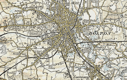 Old map of Bolton in 1903