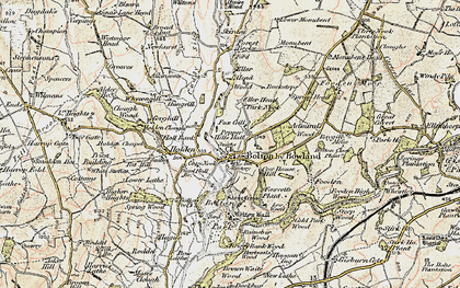 Old map of Admiral's Wood in 1903-1904