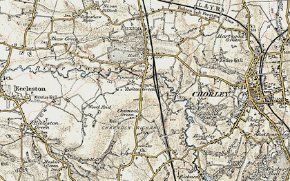 Old map of Bolton Green in 1903