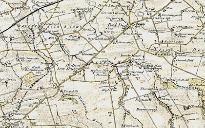 Old map of Wreay, The in 1901-1904