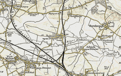 Old map of Bolton Upon Dearne in 1903