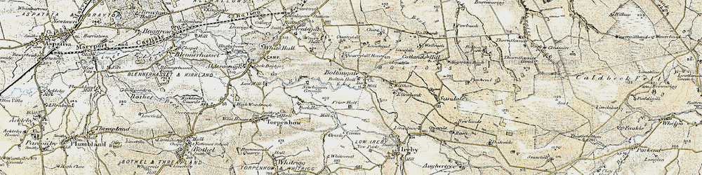 Old map of Boltongate in 1901-1904