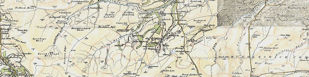 Old map of Whitelees in 1901-1904