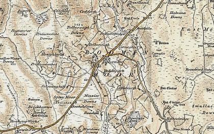 Old map of Bolventor in 1900