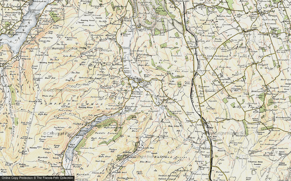 Old Map of Historic Map covering Toathmain in 1901-1904
