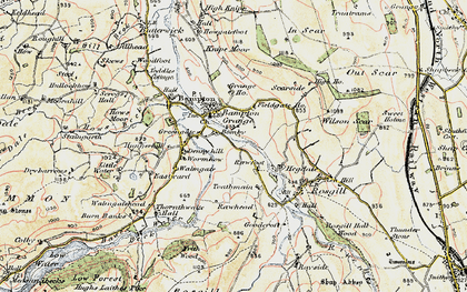 Old map of Toathmain in 1901-1904