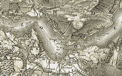 Old map of Allt Nathais in 1906-1907