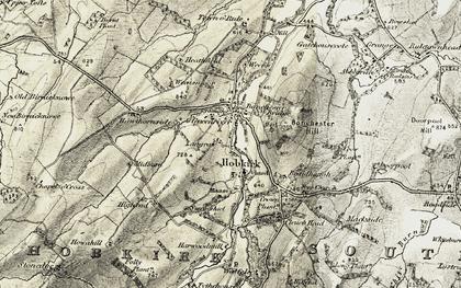 Old map of Bonchester Bridge in 1901-1904