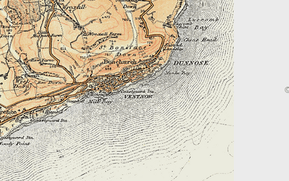Old map of Monks Bay in 1899