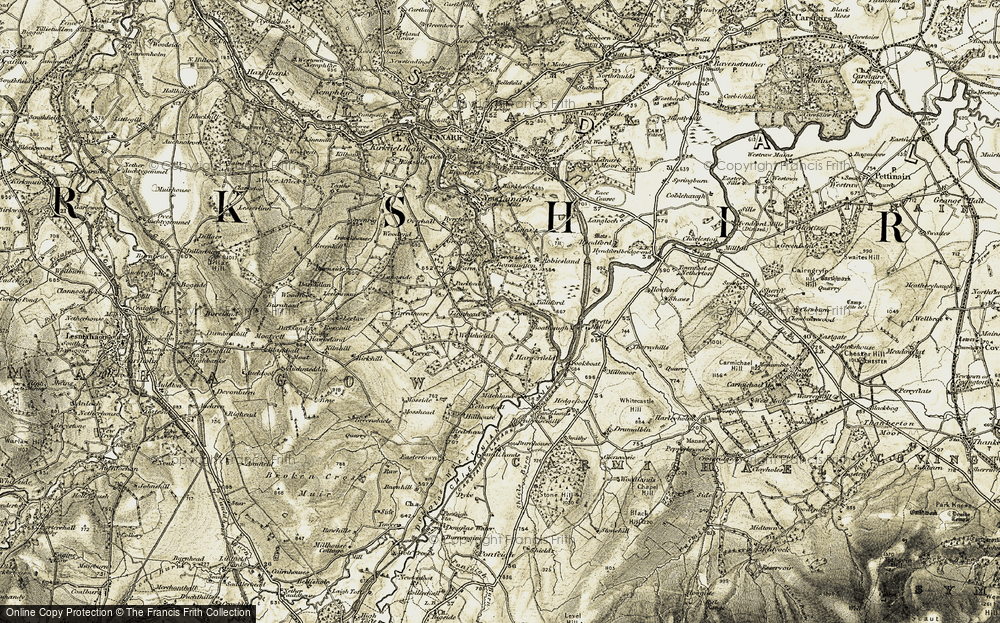 Old Map of Historic Map covering Leelawmuir in 1904-1905