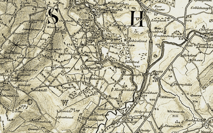 Old map of Woodfoot in 1904-1905