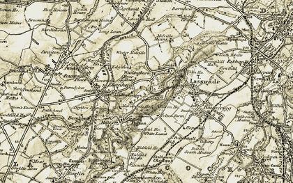 Old map of Wester Melville in 1903-1904