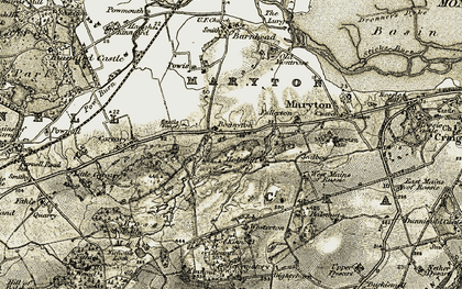 Old map of Westerton of Rossie in 1907-1908