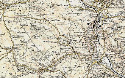 Old map of Bonsall in 1902-1903