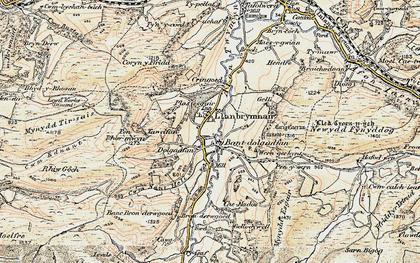 Old map of Bont Dolgadfan in 1902-1903