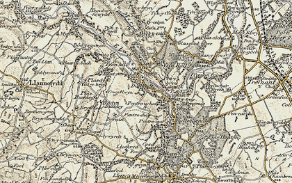 Old map of Graig in 1902-1903