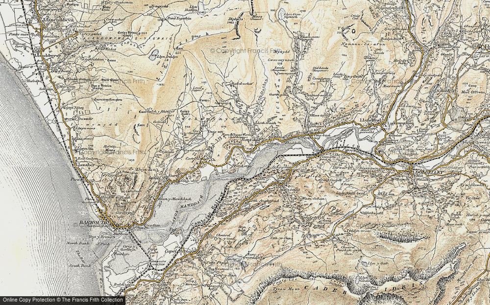 Old Map of Historic Map covering Abergwynant in 1902-1903