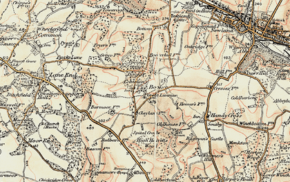 Old map of Wycombe Air Park in 1897-1898