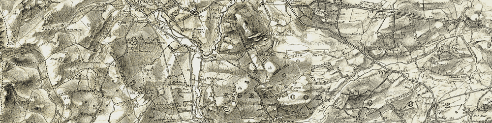 Old map of Boon in 1901-1904