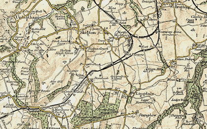 Old map of Boosbeck in 1903-1904