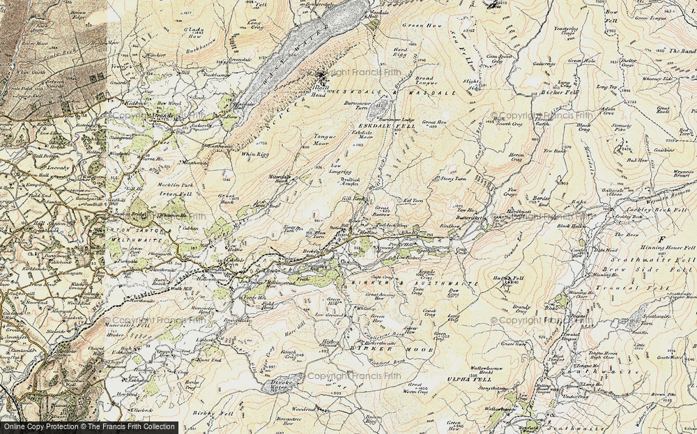 Old Map of Historic Map covering Whincop in 1903-1904