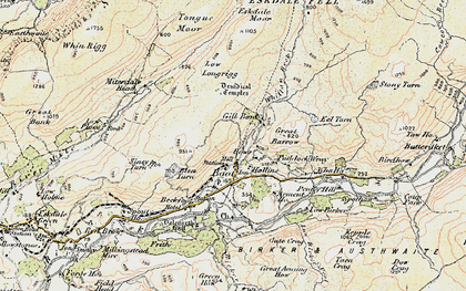 Old map of Whincop in 1903-1904