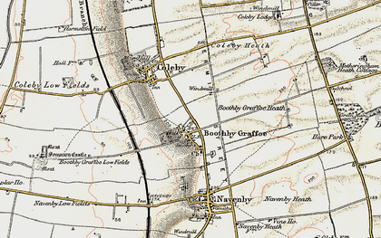 Old map of Boothby Graffoe in 1902-1903