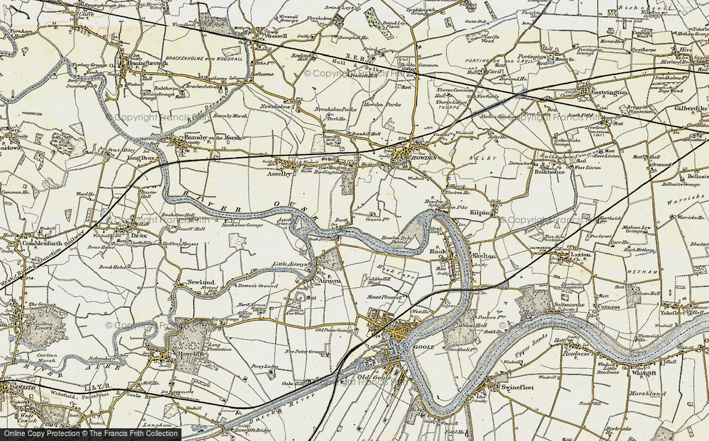 Old Map of Historic Map covering Asselby Island in 1903