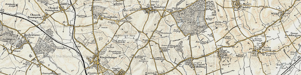 Old map of Boothville in 1898-1901