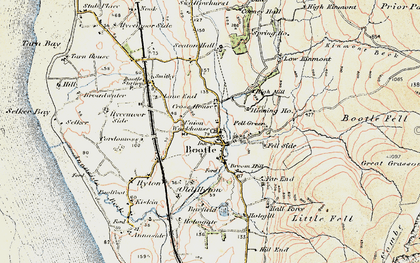 Old map of Barfield in 1903-1904