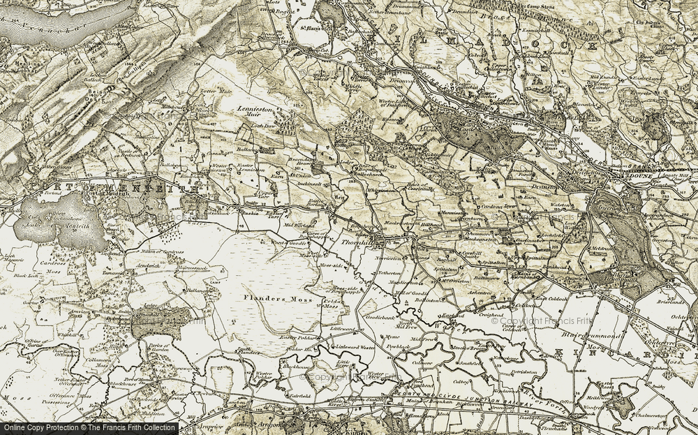 Old Map of Historic Map covering Ballochneck in 1904-1907